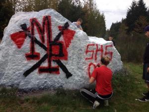 writing on rock