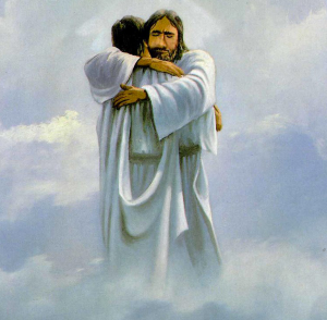 jesus hugging dad