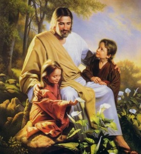christ with kids