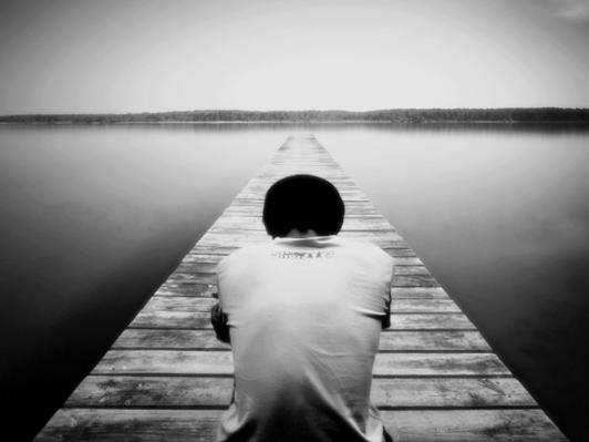 alone on dock